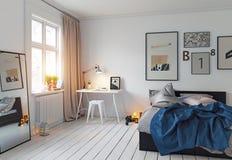 Modern bedroom interior Stock Illustration