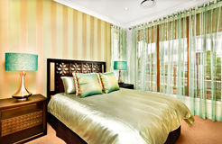 Modern bedroom interior decoration a luxurious house stock photo