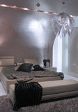 Modern bedroom interior design. Royalty Free Stock Photo