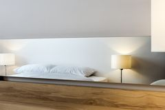 Modern bedroom interior design detail Royalty Free Stock Image