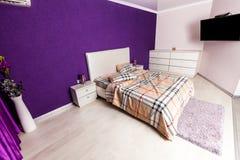Modern bedroom interior design Stock Image