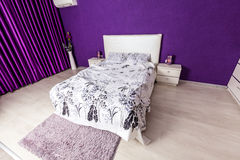 Modern bedroom interior design Stock Photos