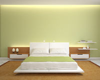 Modern bedroom interior. Stock Images