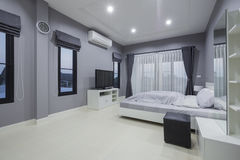 Modern bedroom interior royalty free stock photos