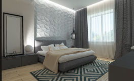 Modern bedroom interior Royalty Free Stock Photo