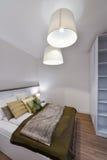 Modern bedroom interior Royalty Free Stock Image