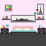 Modern bedroom interior vector illustration. For your ideas Royalty Free Stock Photography