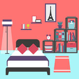 Modern bedroom interior. Vector for your ideas Royalty Free Stock Image