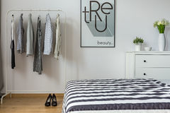 Modern bedroom of a woman Royalty Free Stock Image