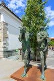 Modern beeldhouwwerk van Adam en Vooravond royalty-vrije stock afbeelding