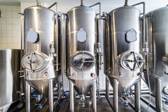 Modern beer brewery. In Jedlina - Poland Stock Photography