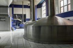 Modern beer brewery. Stock Photos