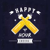 Modern Beer Happy Hour Card Illustration. Suitable For Social Media, Poster, Banner, Festival, Event, And Other Beer Related Occasion vector illustration