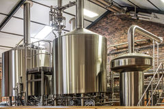 Modern beer plant Royalty Free Stock Photo