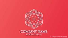 Modern begreppsmässig logo som är användbar i något fält av affären royaltyfri illustrationer