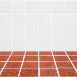 Modern beige and red mosaic Royalty Free Stock Image