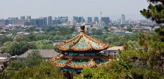 Modern Beijing Skyline. View of Beijing skyline, from Prospect Hill in Jingshan Park Royalty Free Stock Photo