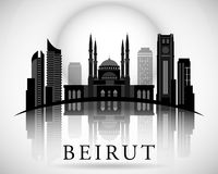 Modern Beirut City Skyline Design. Lebanon Royalty Free Stock Photos