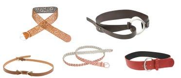 Modern belts Royalty Free Stock Photography