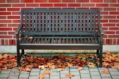 Modern bench Royalty Free Stock Photography