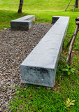 Modern bench. Marble modern bench in public park Stock Photo