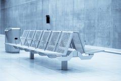 Modern bench stock photo
