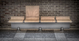 Modern bench in waiting room Royalty Free Stock Photo