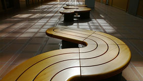 Modern benches stock images