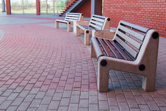 Modern benches Stock Photo