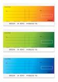 modern betalning för check stock illustrationer