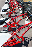 Modern bicycle parking Stock Photography