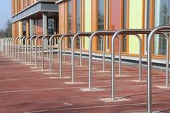 Modern bicycle racks stock photo