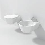 Modern Bidet Toilet Seat Stock Image