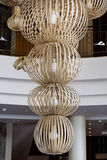Modern big  chandelier in a luxury hotel  lobby. Huge chandelier in a luxury hotel lobby,Bodrum,Turkey Stock Photography