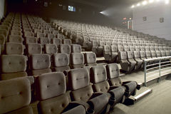 Modern big cinema auditorium interior Royalty Free Stock Photos