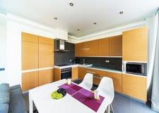 Modern big kitchen Stock Photography