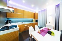 Modern big kitchen Stock Photo