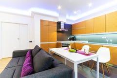 Modern big kitchen Royalty Free Stock Photo