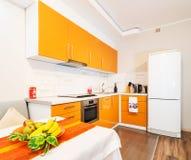 Modern big kitchen Royalty Free Stock Image
