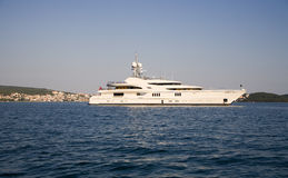 Modern big yacht Royalty Free Stock Photo