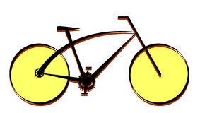 Modern bike icon, vector Royalty Free Stock Photo
