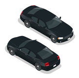 modern bil Bilsymboler Plan isometrisk för illustrationbil för vektor 3d symbol Högkvalitativ stadstransport Arkivbild