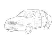 Modern bil- vektorillustration Arkivfoton
