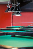 Modern Billiard Club Inviting to Play Royalty Free Stock Photos