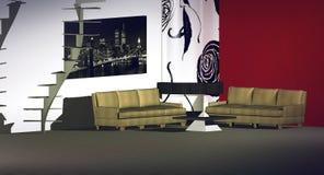 Modern binnenland Royalty-vrije Stock Foto