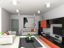 Modern binnenland. Royalty-vrije Stock Afbeelding