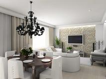 Modern binnenland. Royalty-vrije Stock Foto's