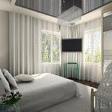 Modern binnenland. 3D geef terug Royalty-vrije Stock Afbeeldingen