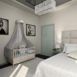 Modern binnenland. 3D geef terug Royalty-vrije Stock Foto's