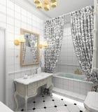 Modern binnenland. 3D geef terug royalty-vrije illustratie